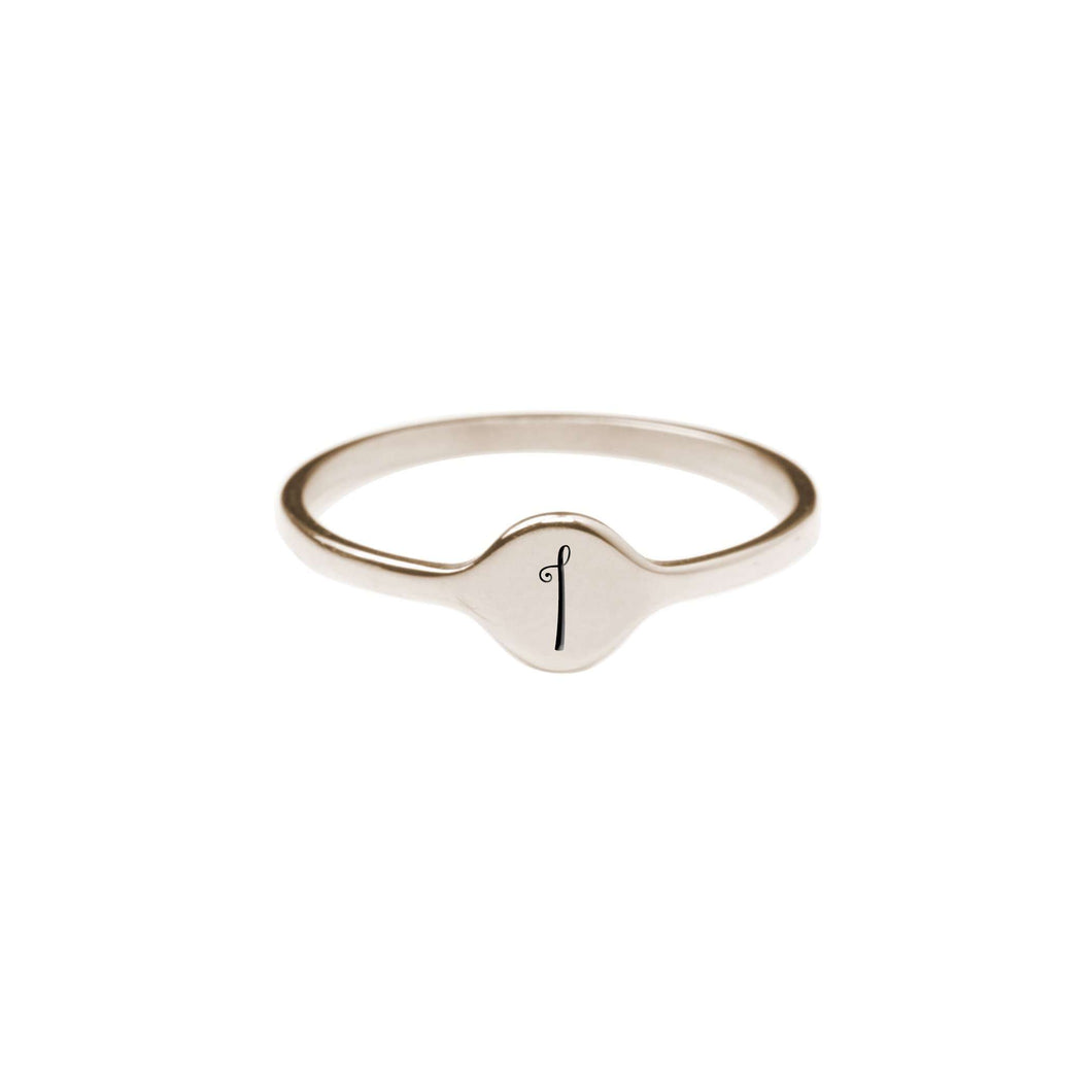 I Comfort Fit Initial Mono Ring