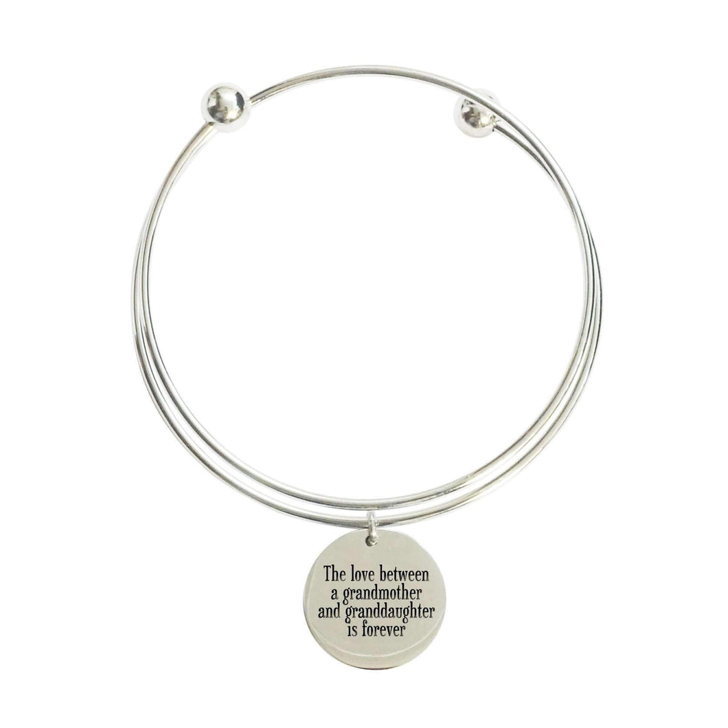 Love Between Grandmother Double Layer Bangle