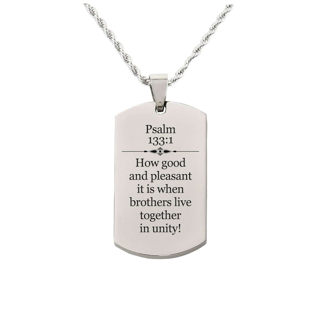 Psalm 133:1 Tag Necklace