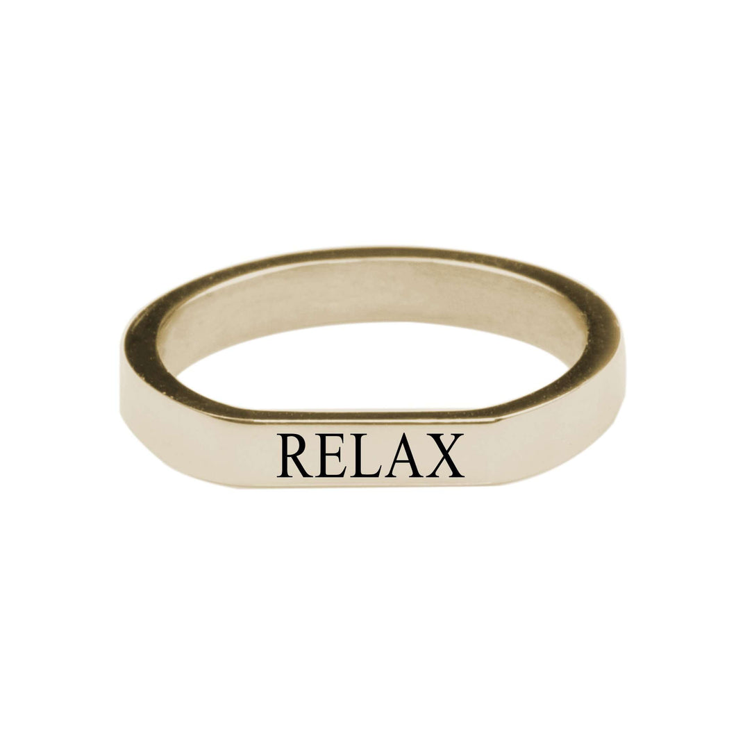 Relax Comfort Fit Flat Ring