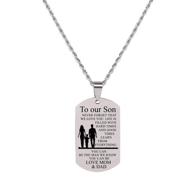 Sentiment Tag Necklace By Pink Box
