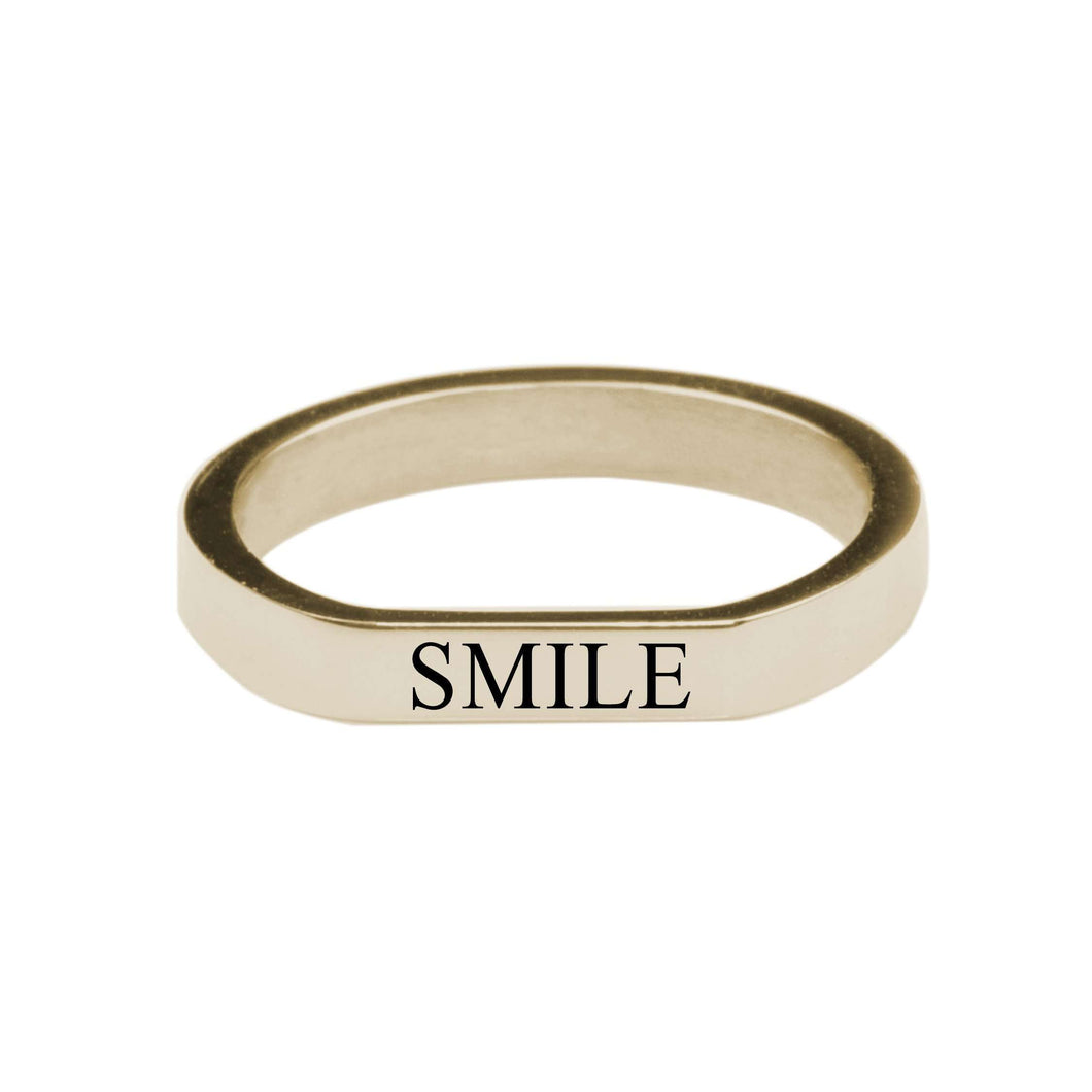 Smile Comfort Fit Flat Ring