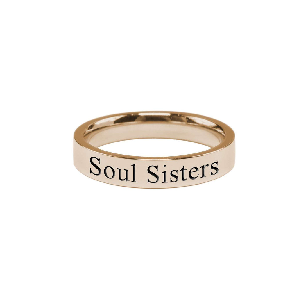 Soul Sisters Comfort Fit Inspirational Band