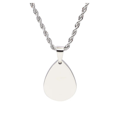 Stainless Steel Teardrop Tag Necklace