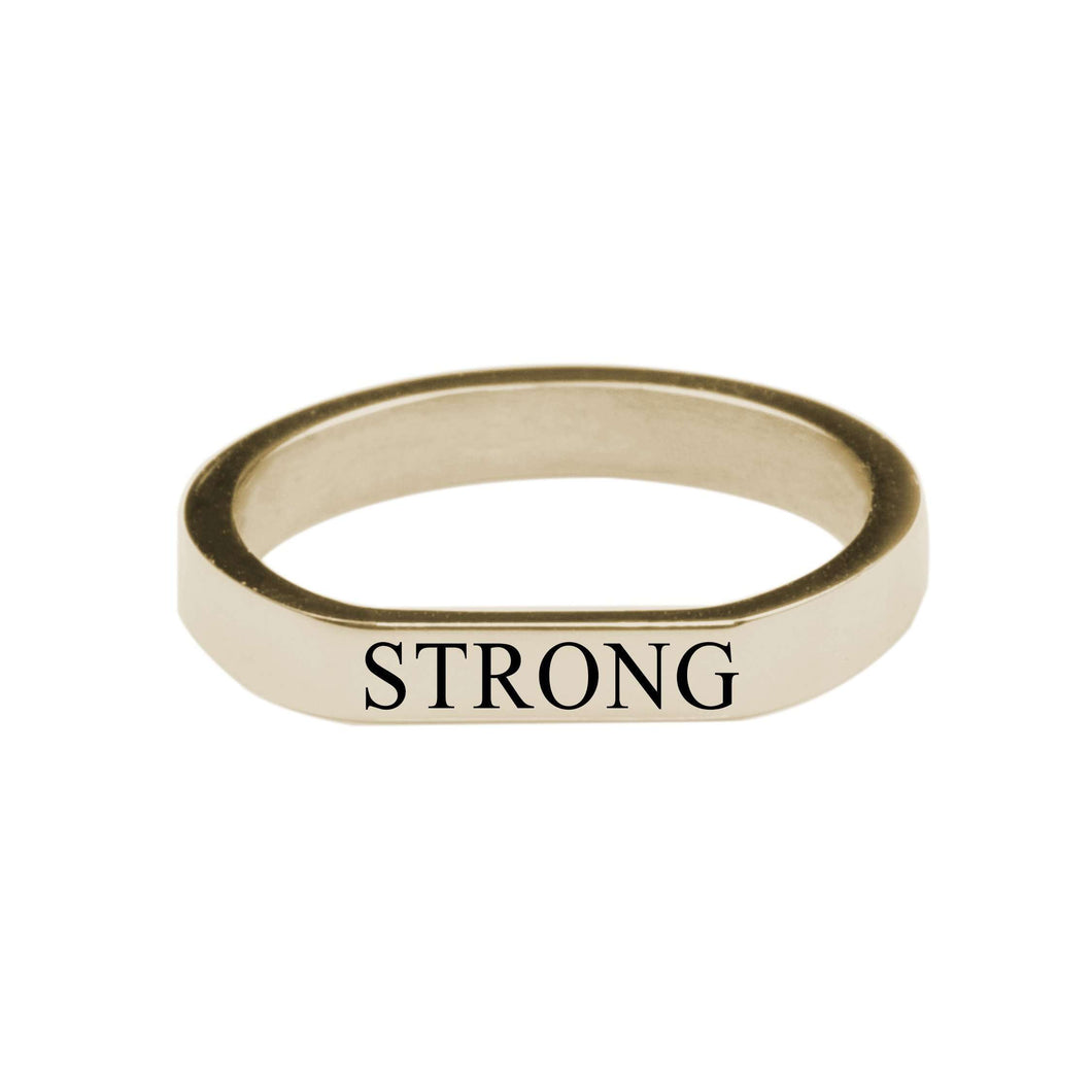 Strong Comfort Fit Flat Ring