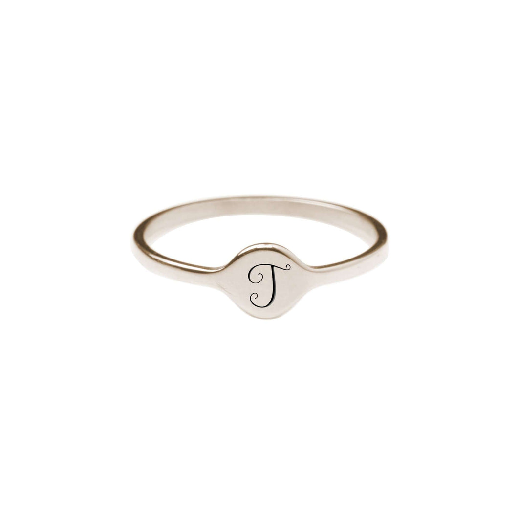 T Comfort Fit Initial Mono Ring