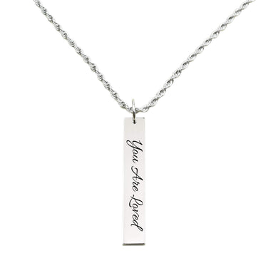Vertical Bar Inspirational Necklace