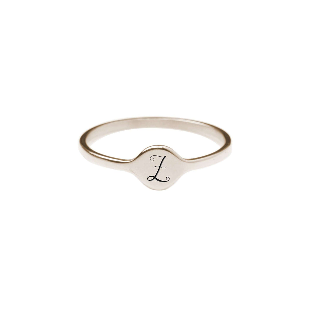Z Comfort Fit Initial Mono Ring