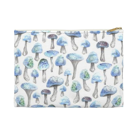 Blue Shrooms Accessory Pouch