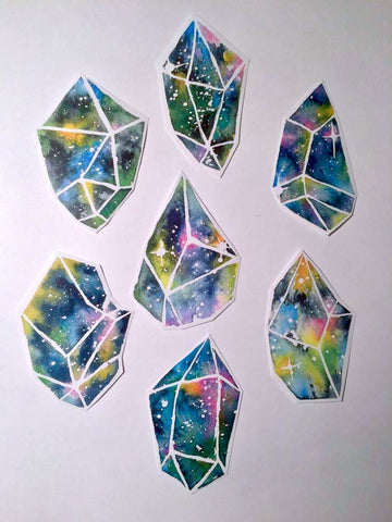 Cosmic Crystal Sticker Pack