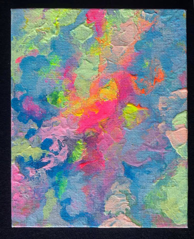 Rainbow Clouds 1 4x5 inch painting