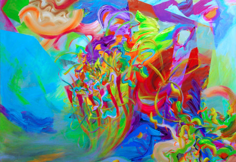 Flux 48x72 inch painting