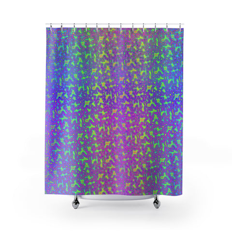 Psychedelic Mess Shower Curtain