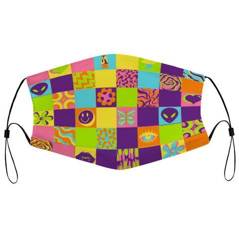 Disco Squares Reusable Mask