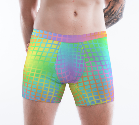 Rainbow Grid Boxer Brief