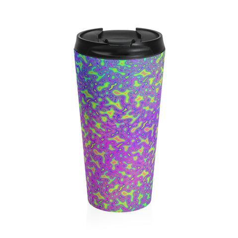 Psychedelic Mess Stainless Steel Travel Mug