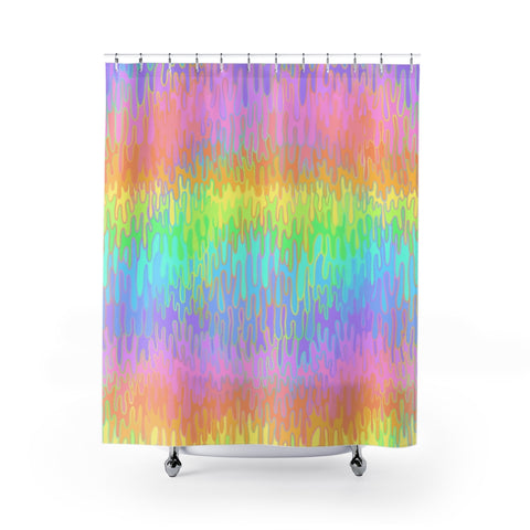 Rainbow Melt Shower Curtain