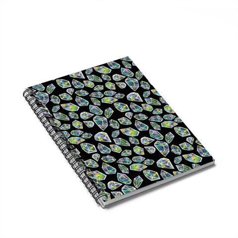 Cosmic Crystal Spiral Notebook - Ruled Line