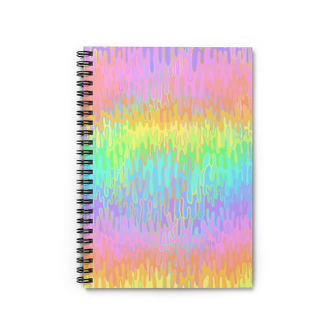 Rainbow Melt Spiral Notebook - Ruled Line