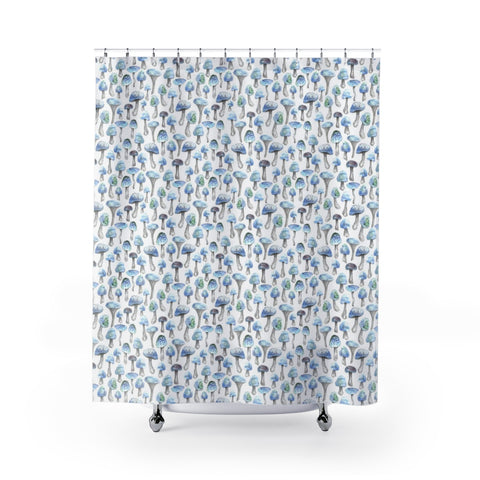 Blue Shroom Shower Curtain