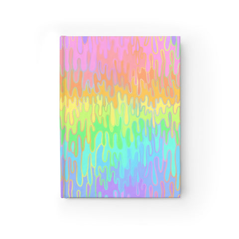 Rainbow Melt Journal - Ruled Line