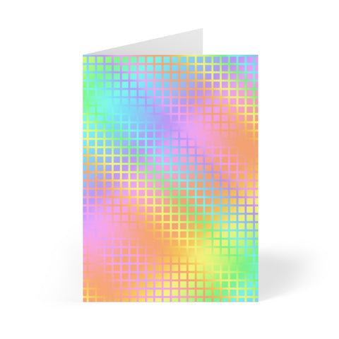 Rainbow Grid Greeting Cards (8 pcs)