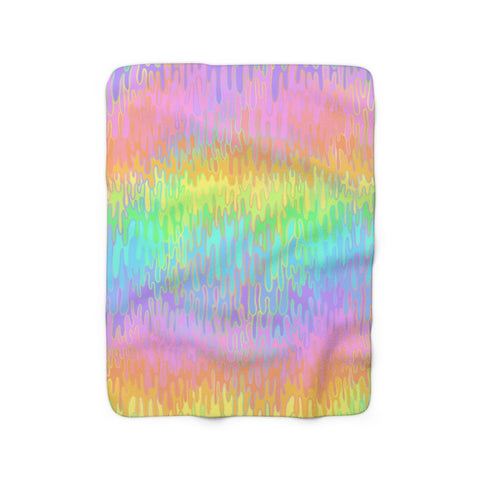 Rainbow Melt Sherpa Fleece Blanket