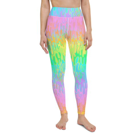 Rainbow Melt Yoga Leggings