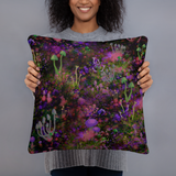 Sunset Shrooms Square Pillow
