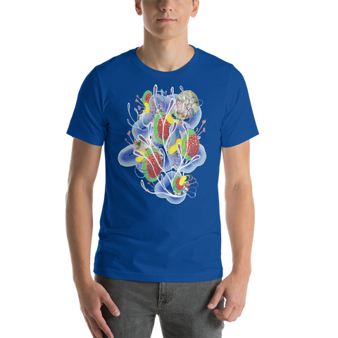 Dark Blue Organism Short-Sleeve Unisex T-Shirt