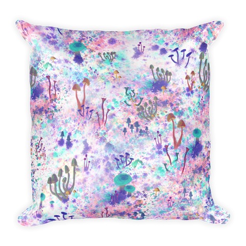 Fairy Fungus Square Pillow