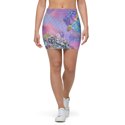 Crystal Clouds Mini Skirt