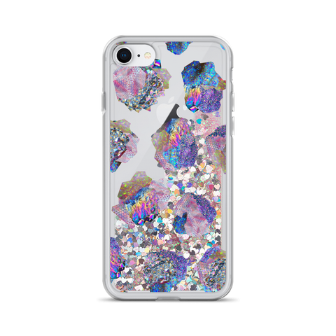 Crystal Cluster Liquid Glitter Phone Case
