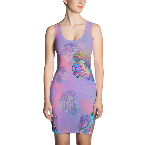 Crystal Clouds Bodycon Dress