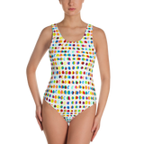 Ink Dots One-Piece Swimsuit