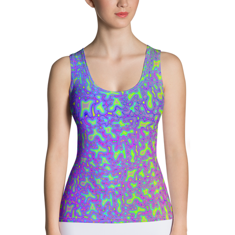 Psychedelic Mess Sublimation Cut & Sew Tank Top