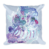 Blooming Organism Square Pillow