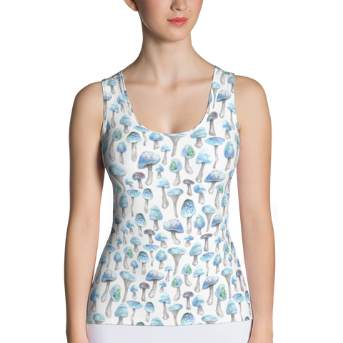 Blue Shroom Long Tank Top