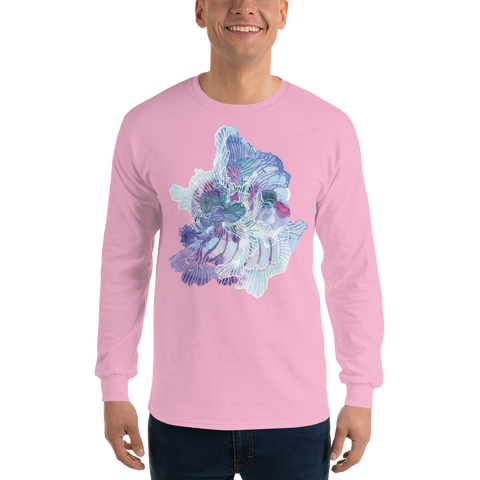 Pink Blooming Organism Long Sleeve T-Shirt