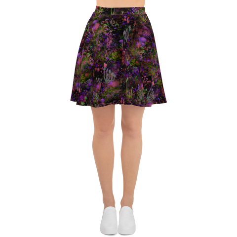 Sunset Shrooms Skater Skirt