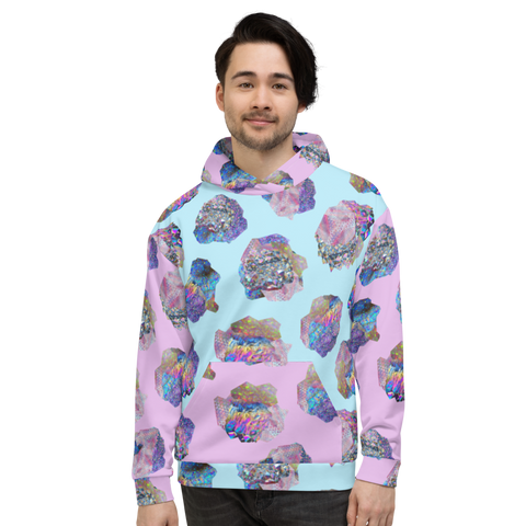 Crystal Cluster All-Over Unisex Hoodie