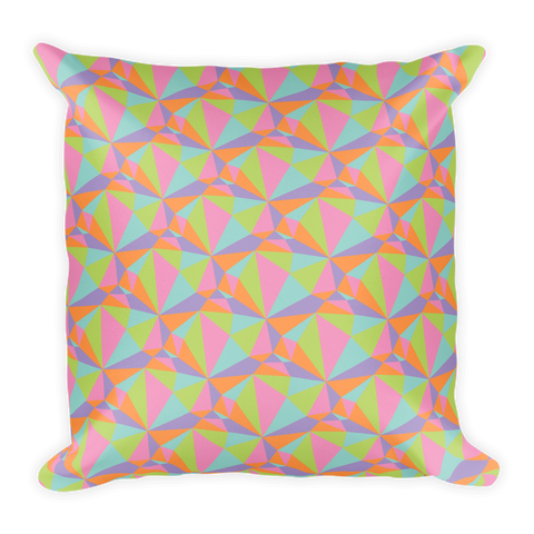 Pastel Prism Square Pillow