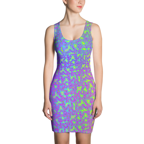 Psychedelic Mess Sublimation Cut & Sew Bodycon Dress
