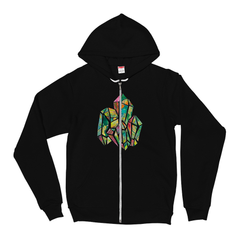 Crystal Collage Unisex Zip Hoodie