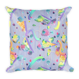 Squiggle Stones Square Pillow