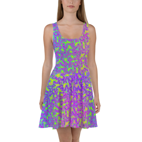 Psychedelic Mess Skater Dress