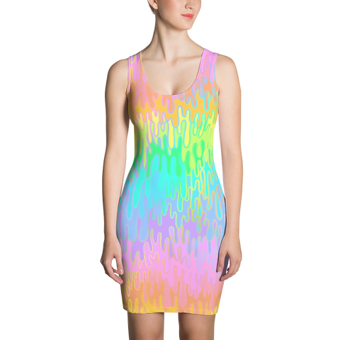 Rainbow Melt Bodycon Dress
