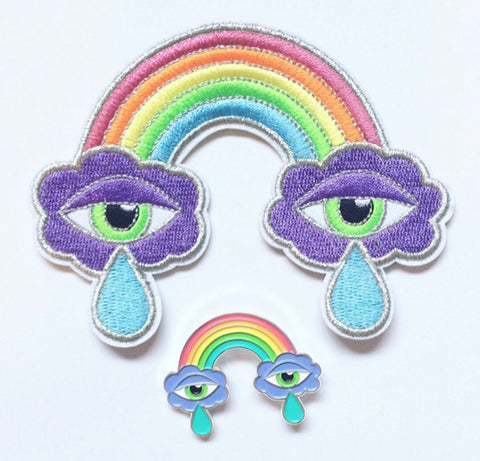Cloudy Feelings Pin and Patch Set