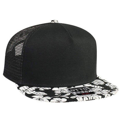 """OTTO SNAP"" 5 Panel Mid Profile Mesh Back Trucker Snapback Hat - Threads With An Edge LLC."