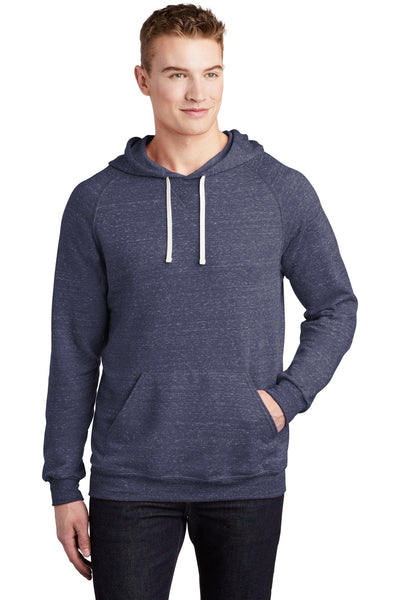 JERZEES  Snow Heather French Terry Raglan Hoodie - Threads With An Edge LLC.